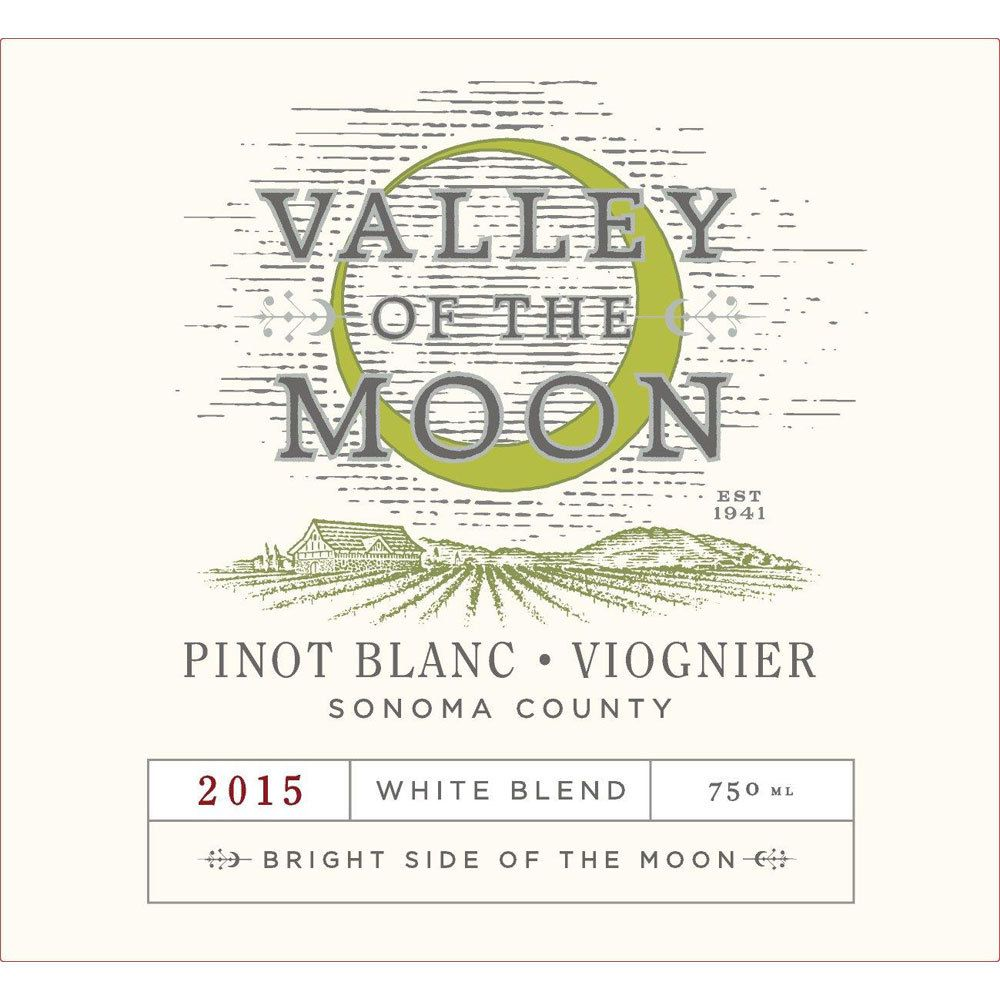 Valley of the Moon Pinot Blanc-Viognier 2015 Front Label