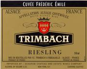 Trimbach Cuvee Frederic-Emile Riesling 1997 Front Label