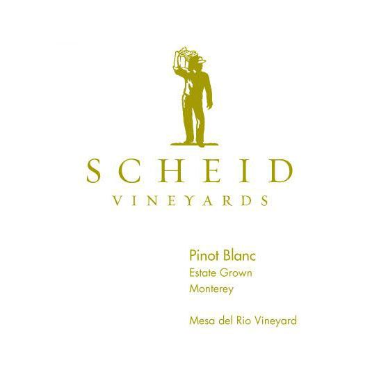 Scheid Vineyards Pinot Blanc 2014 Front Label