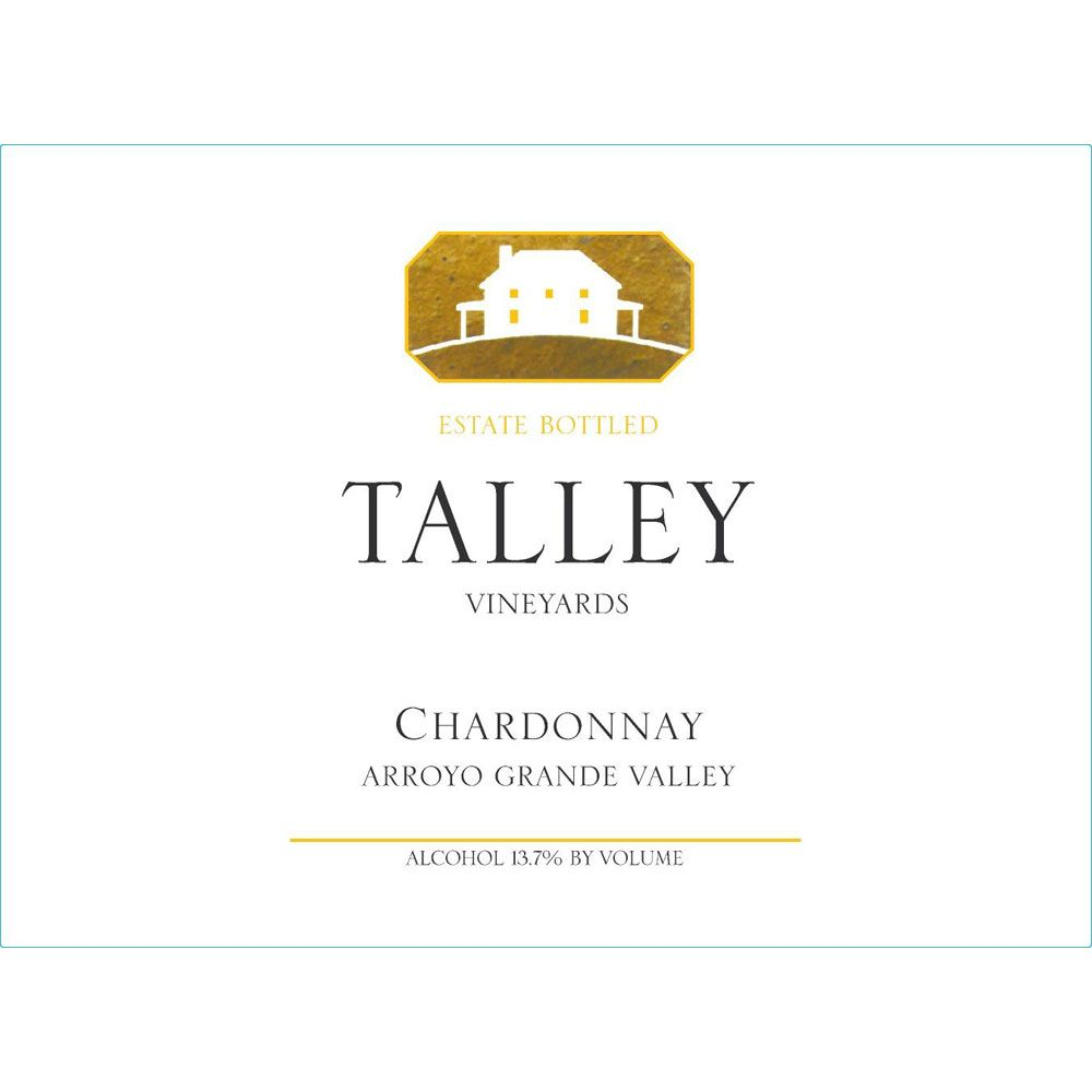 Talley Arroyo Grande Estate Chardonnay (375ML half-bottle) 2015 Front Label