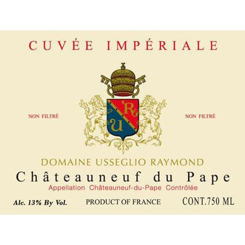 Domaine Raymond Usseglio Chateauneuf-du-Pape Cuvee Imperiale 2014 Front Label