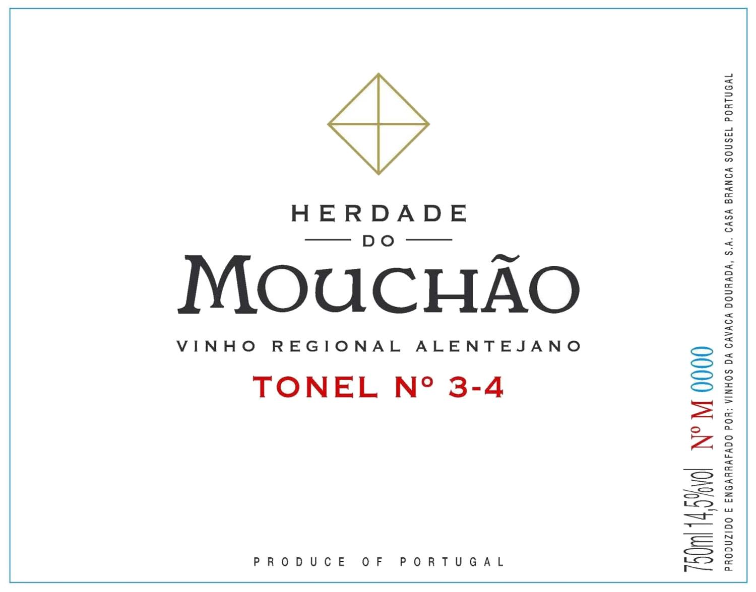 Herdade do Mouchao Tonel 3-4 2011 Front Label
