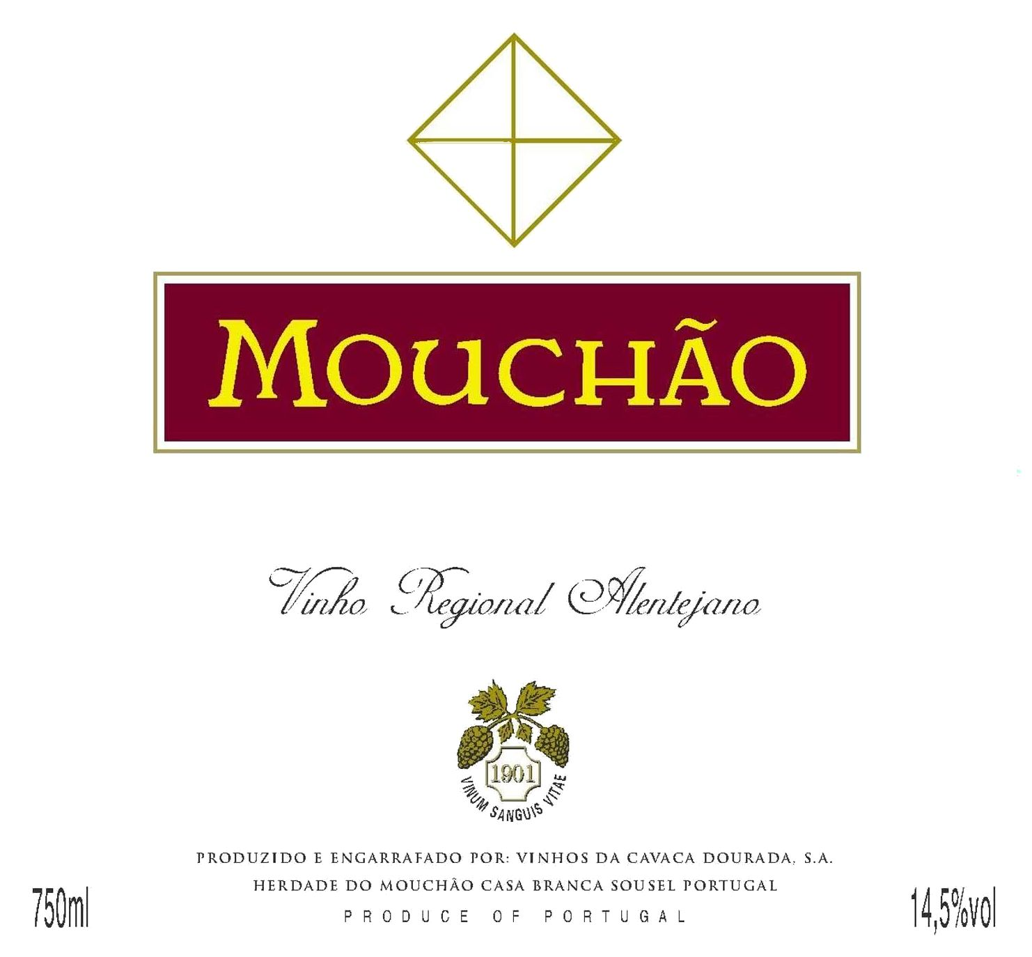 Herdade do Mouchao Tinto 2003 Front Label