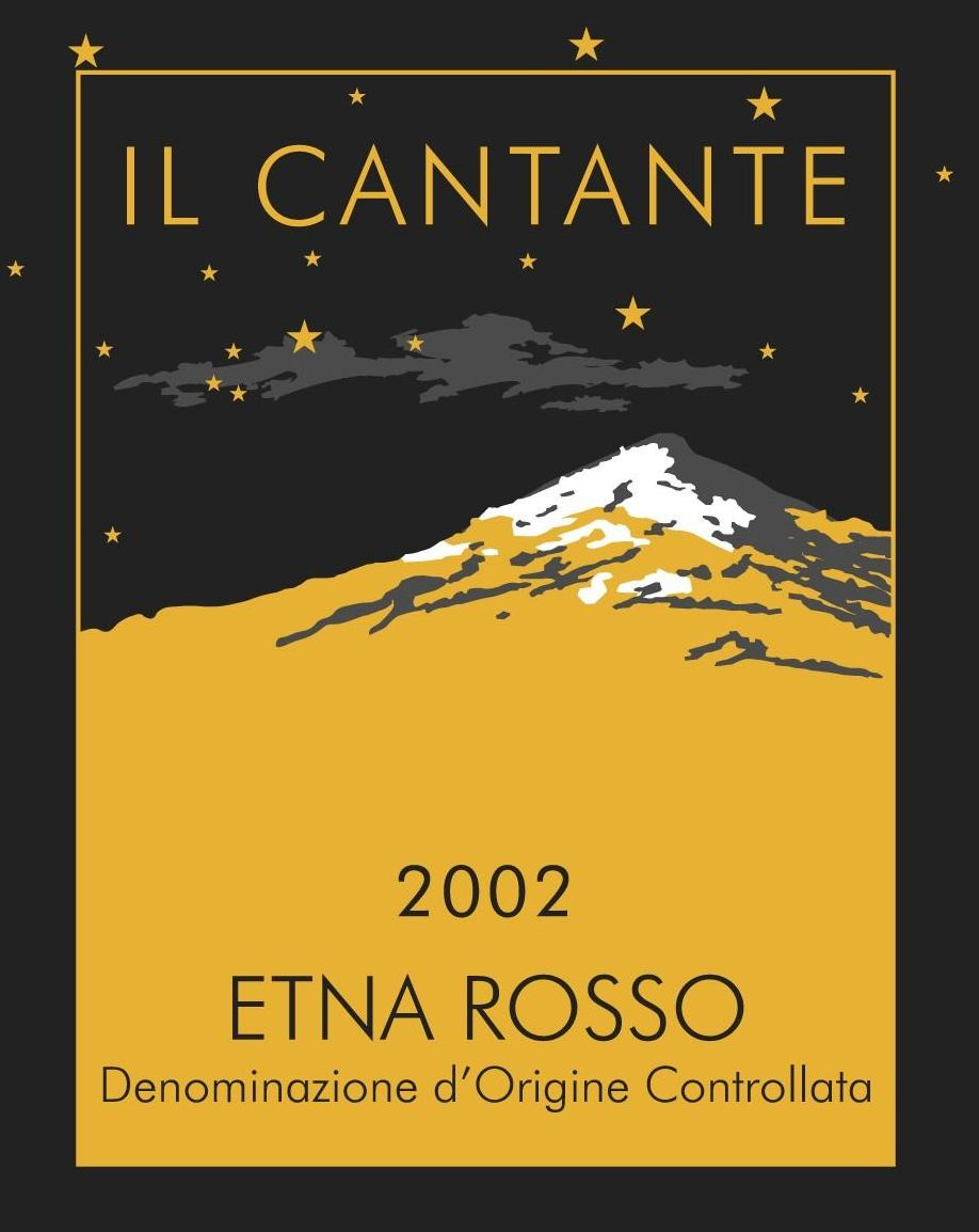 Il Cantante Etna Rosso 2002 Front Label