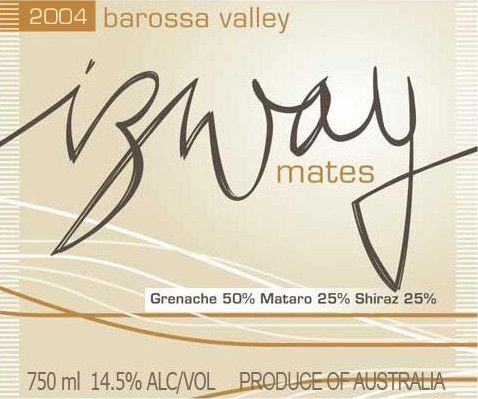 Izway Wines Mates 2004 Front Label