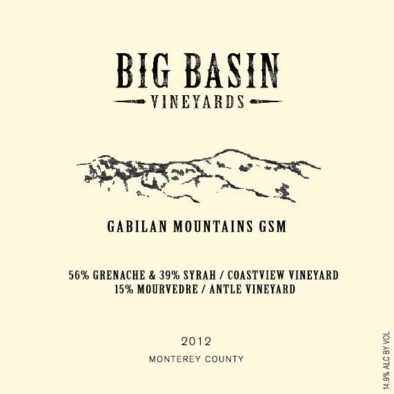 Big Basin Gabilan Mountains GSM 2012 Front Label