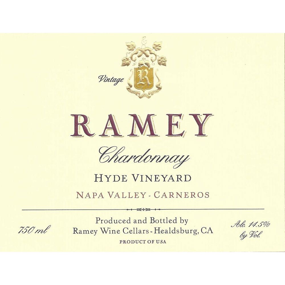 Ramey Hyde Vineyard Chardonnay 2005 Front Label