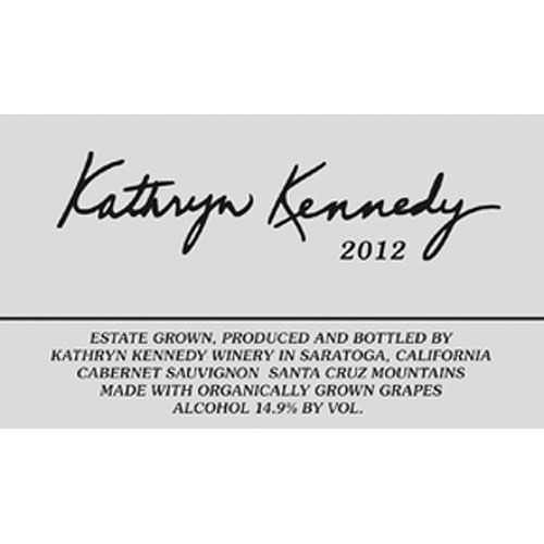 Kathryn Kennedy Santa Cruz Mountains Estate Cabernet Sauvignon 2012 Front Label