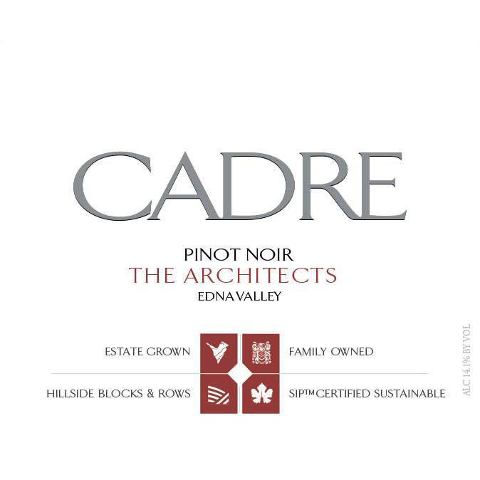 Cadre The Architects Pinot Noir 2014 Front Label