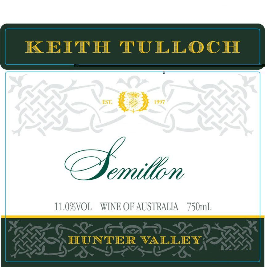 Keith Tulloch Wines Semillon 2016 Front Label