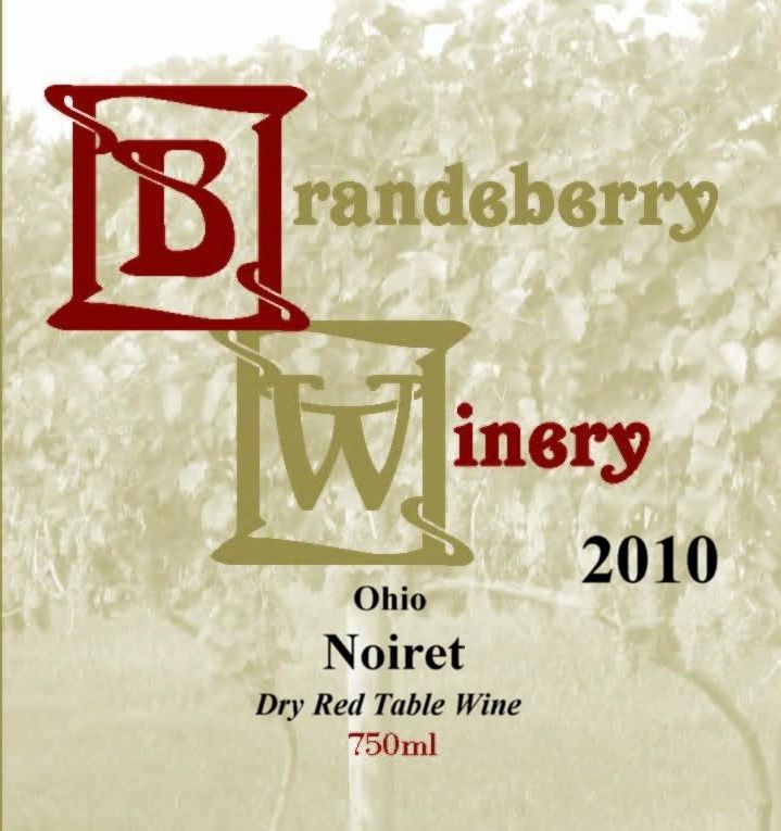 Brandeberry Winery Noiret 2010 Front Label