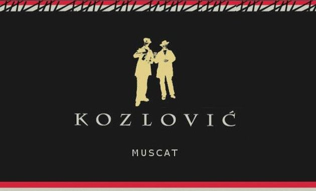 Kozlovic Istria Muscat 2015 Front Label