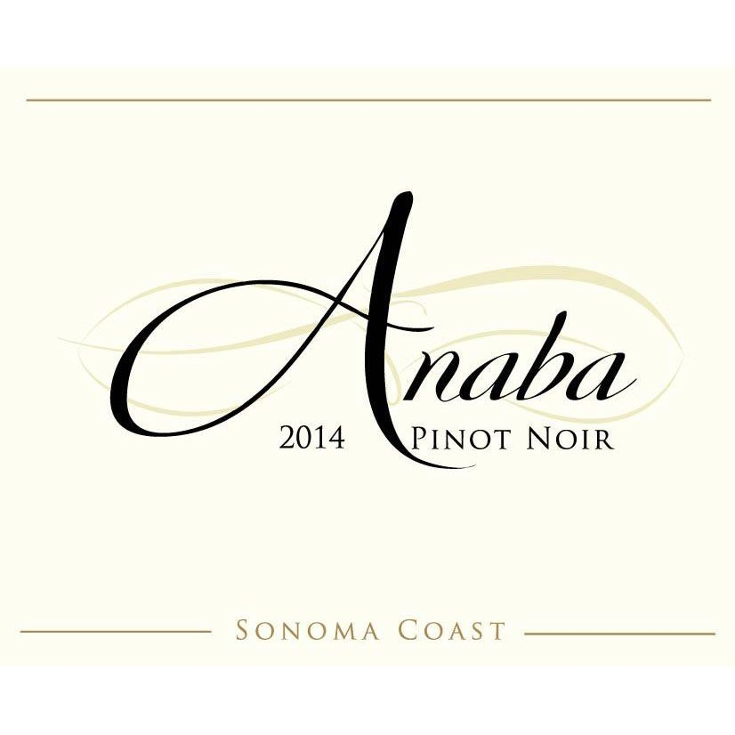 Anaba Sonoma Coast Pinot Noir 2014 Front Label