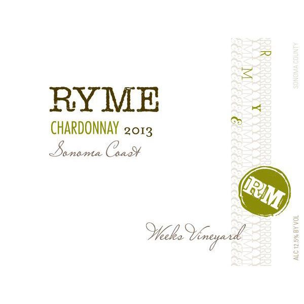 Ryme Weeks Vineyard Chardonnay 2013 Front Label