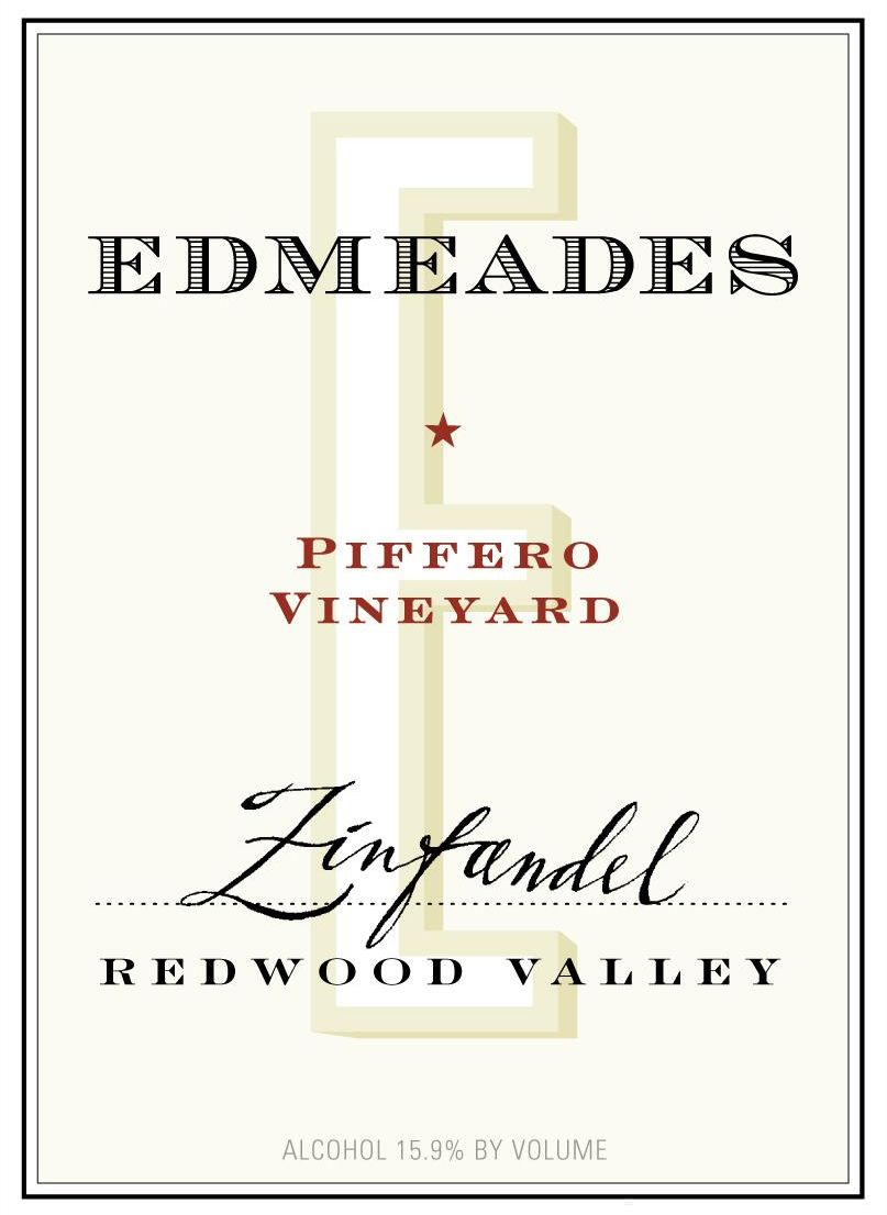 Edmeades Piffero Vineyard Zinfandel 2010  Front Label