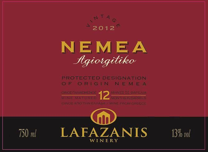 Lafazanis Winery Agiorgitiko 2012 Front Label