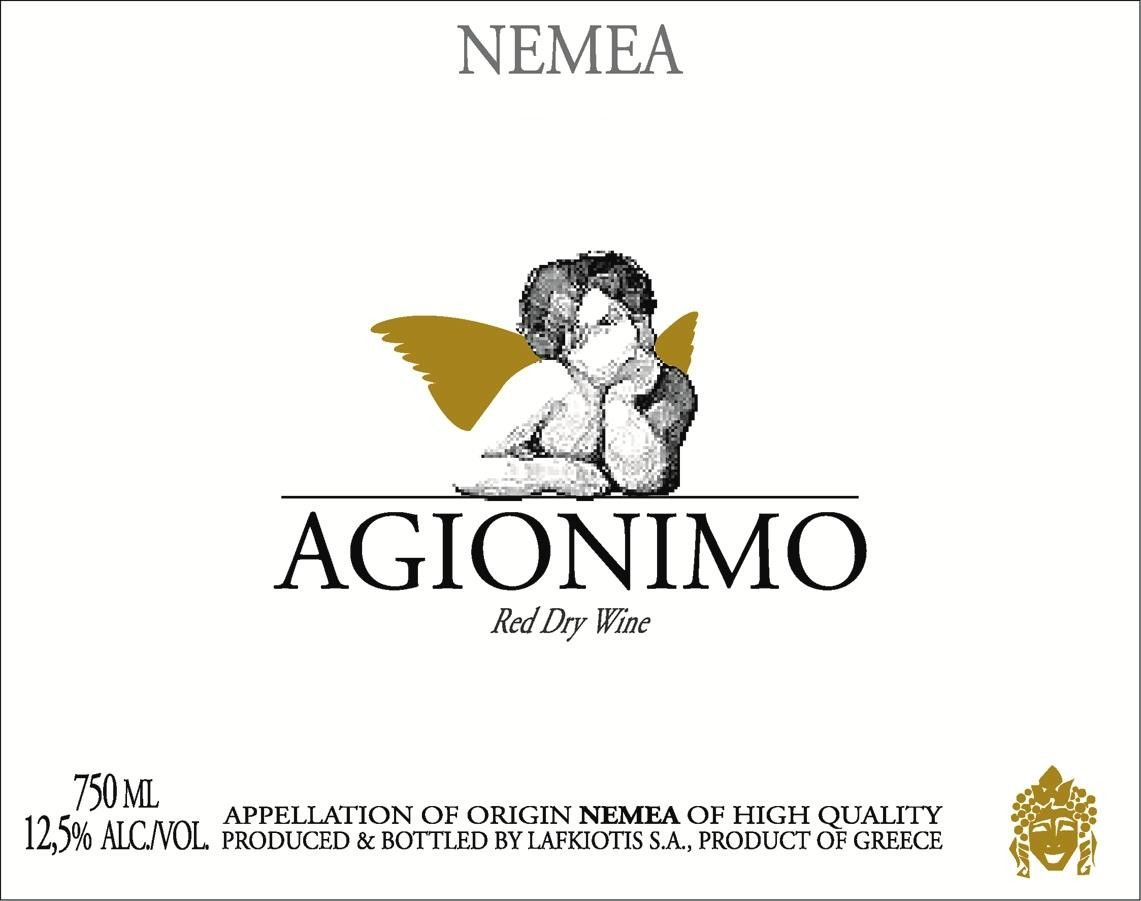 Lafkiotis Winery Agionymo 2010 Front Label
