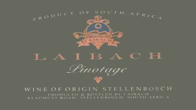 Laibach Pinotage 2014 Front Label