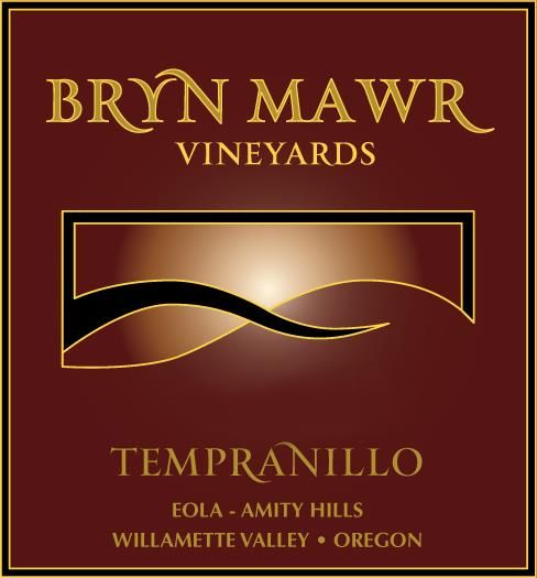Bryn Mawr Vineyards Tempranillo 2014 Front Label