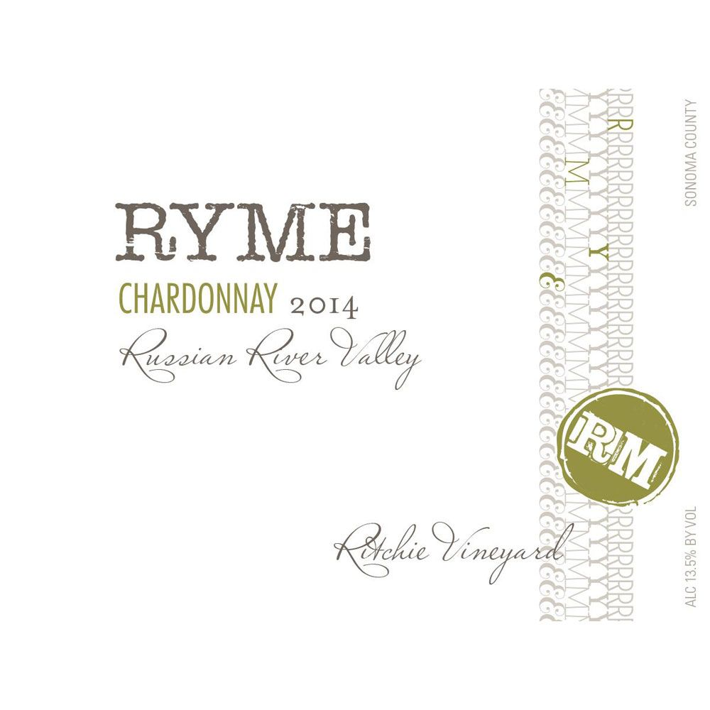Ryme Ritchie Vineyard Chardonnay 2014 Front Label