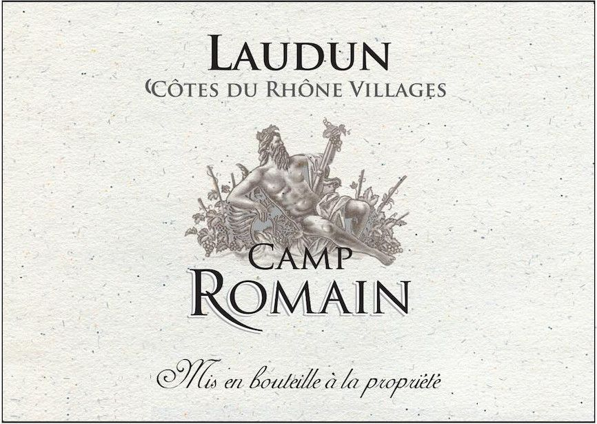 Laudun & Chusclan Vignerons Cotes du Rhone Villages Laudun Camp Romain 2015 Front Label