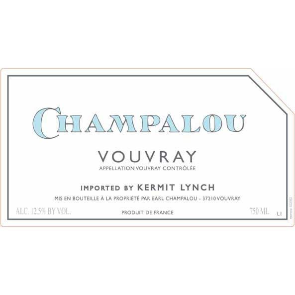 Champalou Vouvray 2016 Front Label
