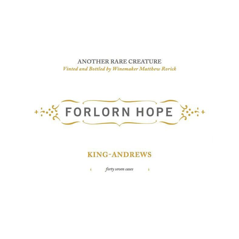 Forlorn Hope King Andrews White Wine 2015 Front Label