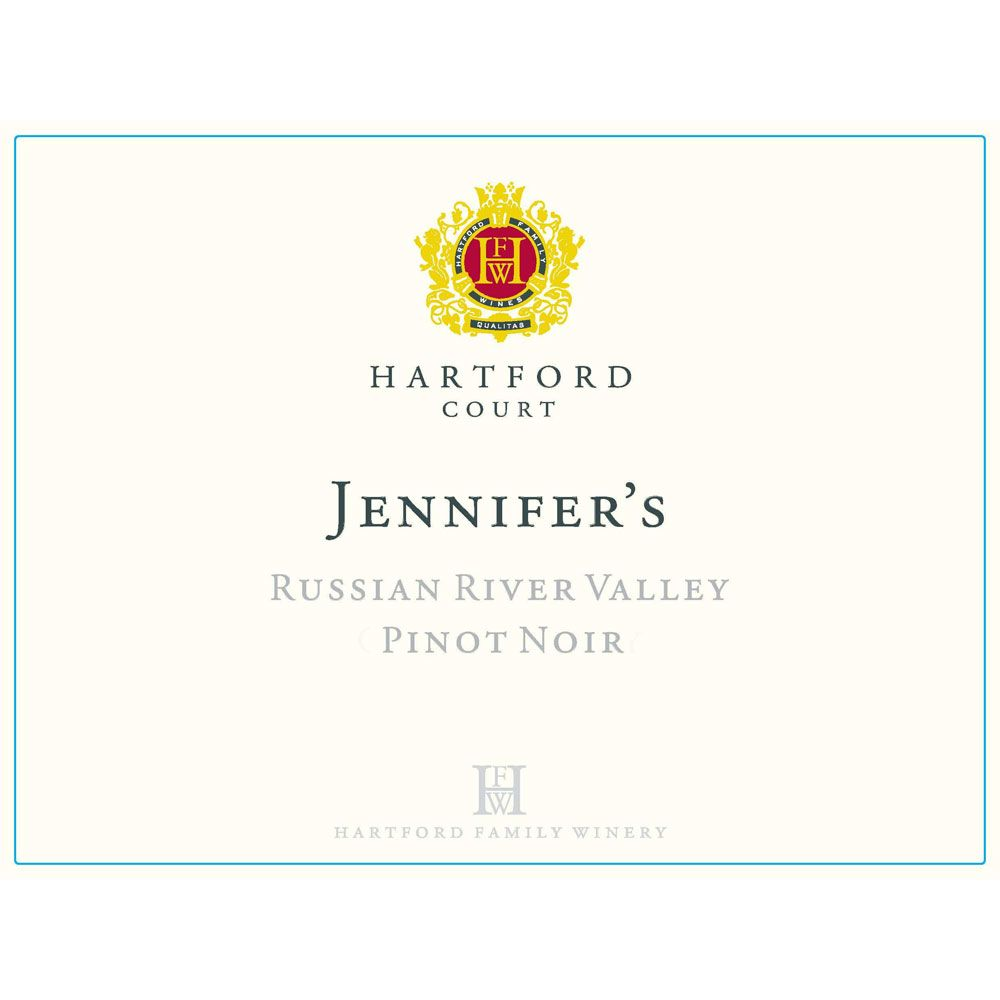 Hartford Court Jennifer's Pinot Noir 2014 Front Label