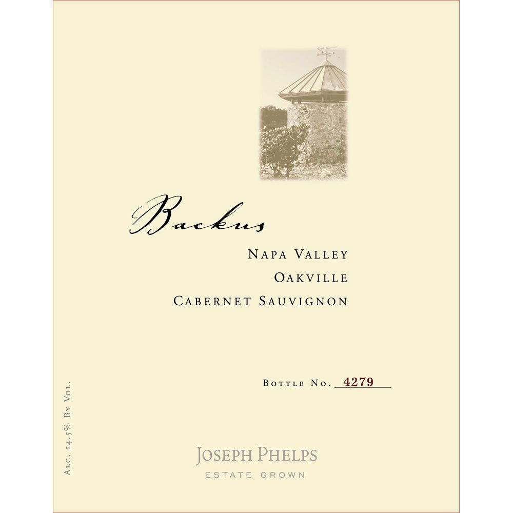 Joseph Phelps Backus Vineyard Cabernet Sauvignon 2009 Front Label