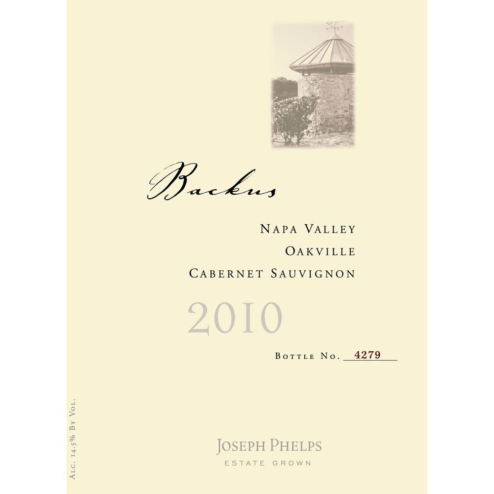 Joseph Phelps Backus Vineyard Cabernet Sauvignon 2010 Front Label