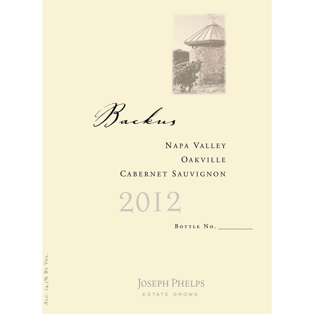 Joseph Phelps Backus Vineyard Cabernet Sauvignon 2012 Front Label