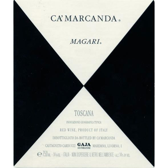 Gaja Ca' Marcanda Magari (375ML half-bottle) 2012 Front Label