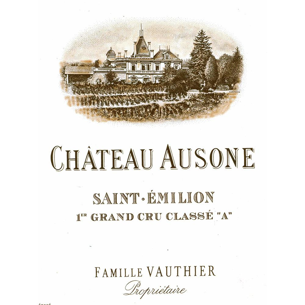 Chateau Ausone (stained label) 2001 Front Label