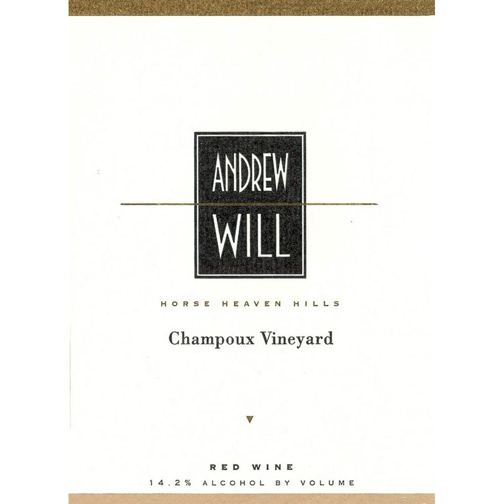Andrew Will Winery Champoux Vineyard Horse Heaven Hills 2013 Front Label