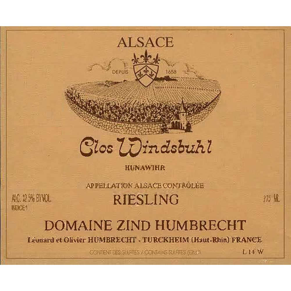 Zind-Humbrecht Clos Windsbuhl Riesling 2015 Front Label