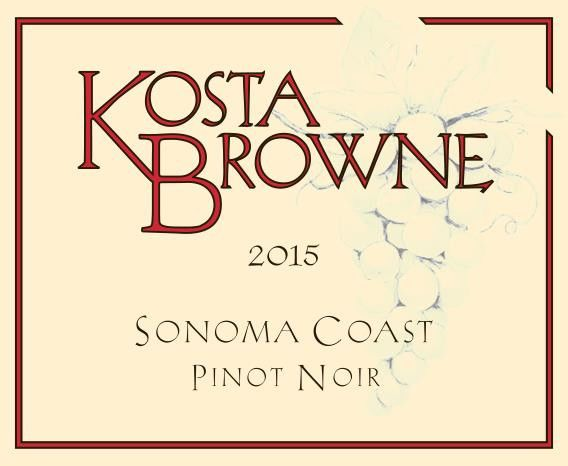 Kosta Browne Sonoma Coast Pinot Noir (stained labels) 2016 Front Label