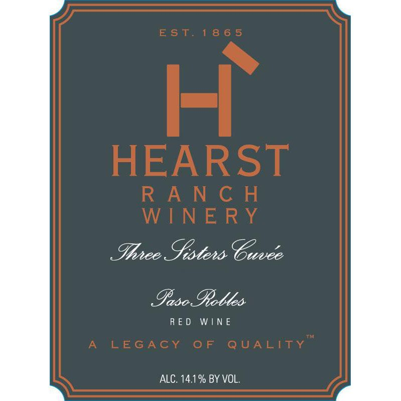 Hearst Ranch Three Sisters Cuvee Red 2015 Front Label