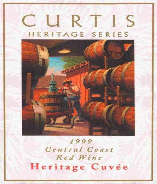 Curtis Heritage Cuvee 1999  Front Label
