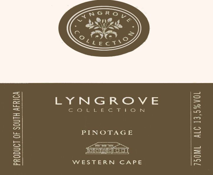 Lyngrove Wines Collection Pinotage 2010 Front Label
