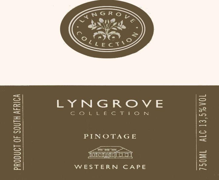 Lyngrove Wines Collection Pinotage 2008 Front Label