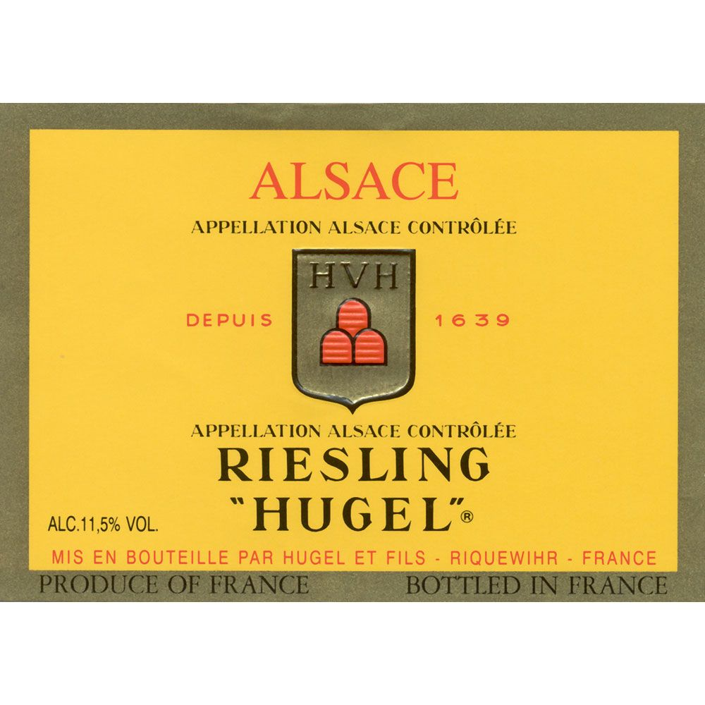 Hugel Classic Riesling (375ML half-bottle) 2015 Front Label