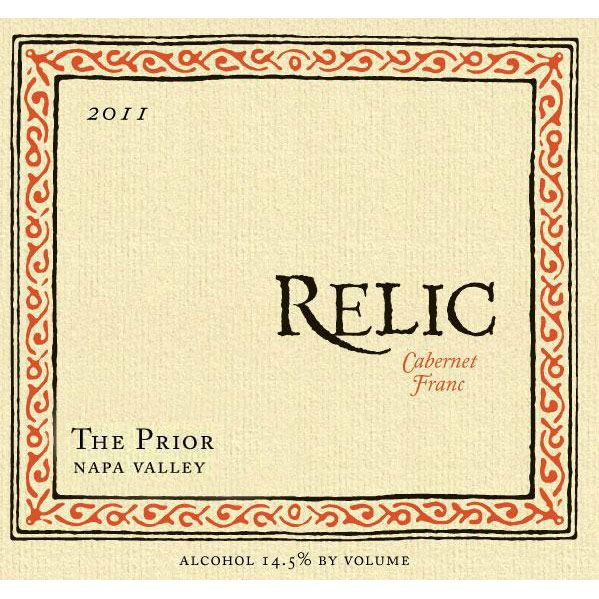 Relic Wine Cellars The Prior Cabernet Franc 2011 Front Label