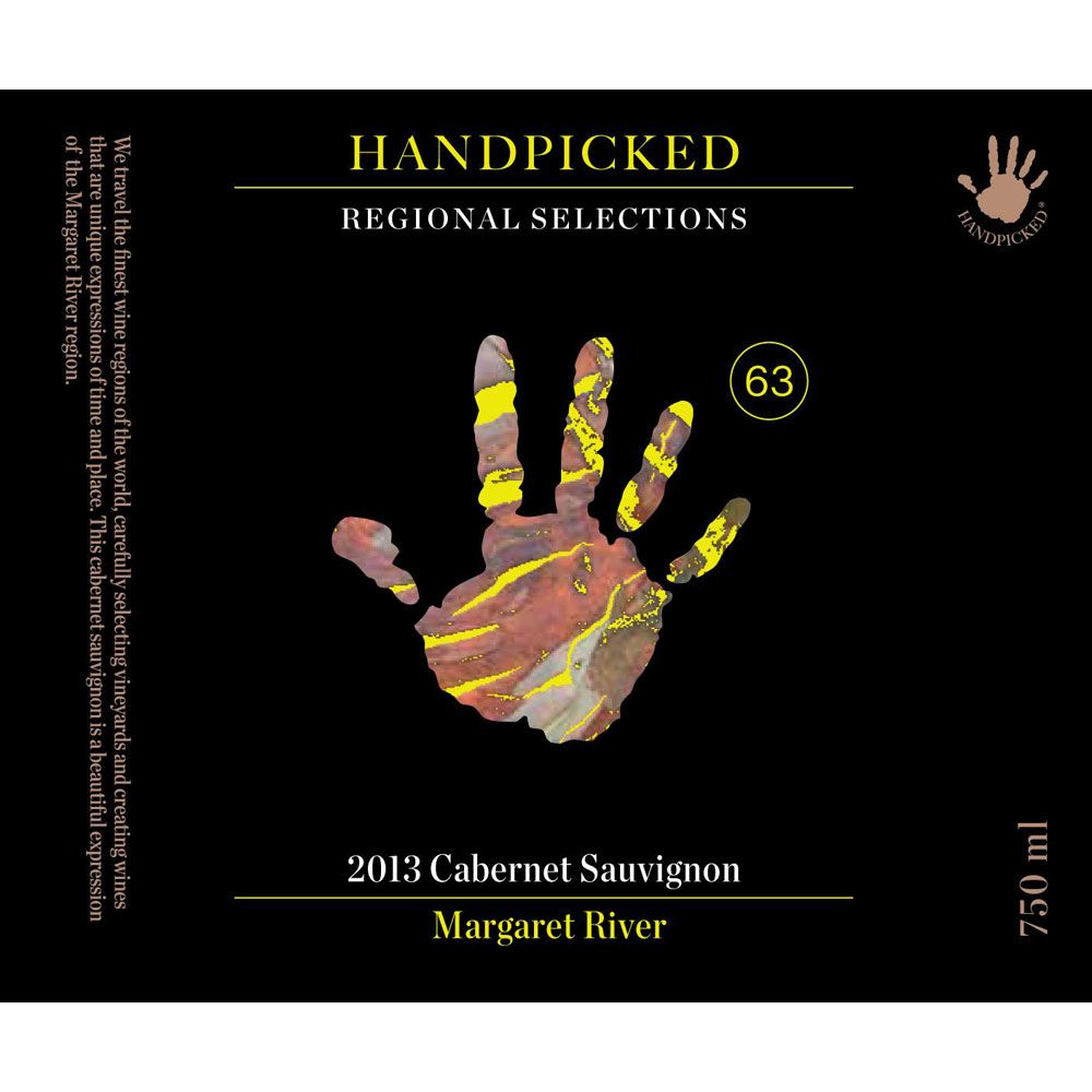 Handpicked Wines Regional Selection Margaret River Cabernet Sauvignon 2013 Front Label