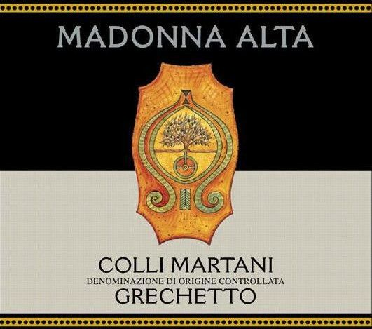 Madonna Alta Colli Martani Grechetto 2008 Front Label