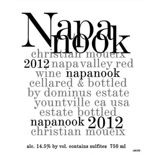 Dominus Napanook Vineyard (375ML half-bottle) 2012 Front Label