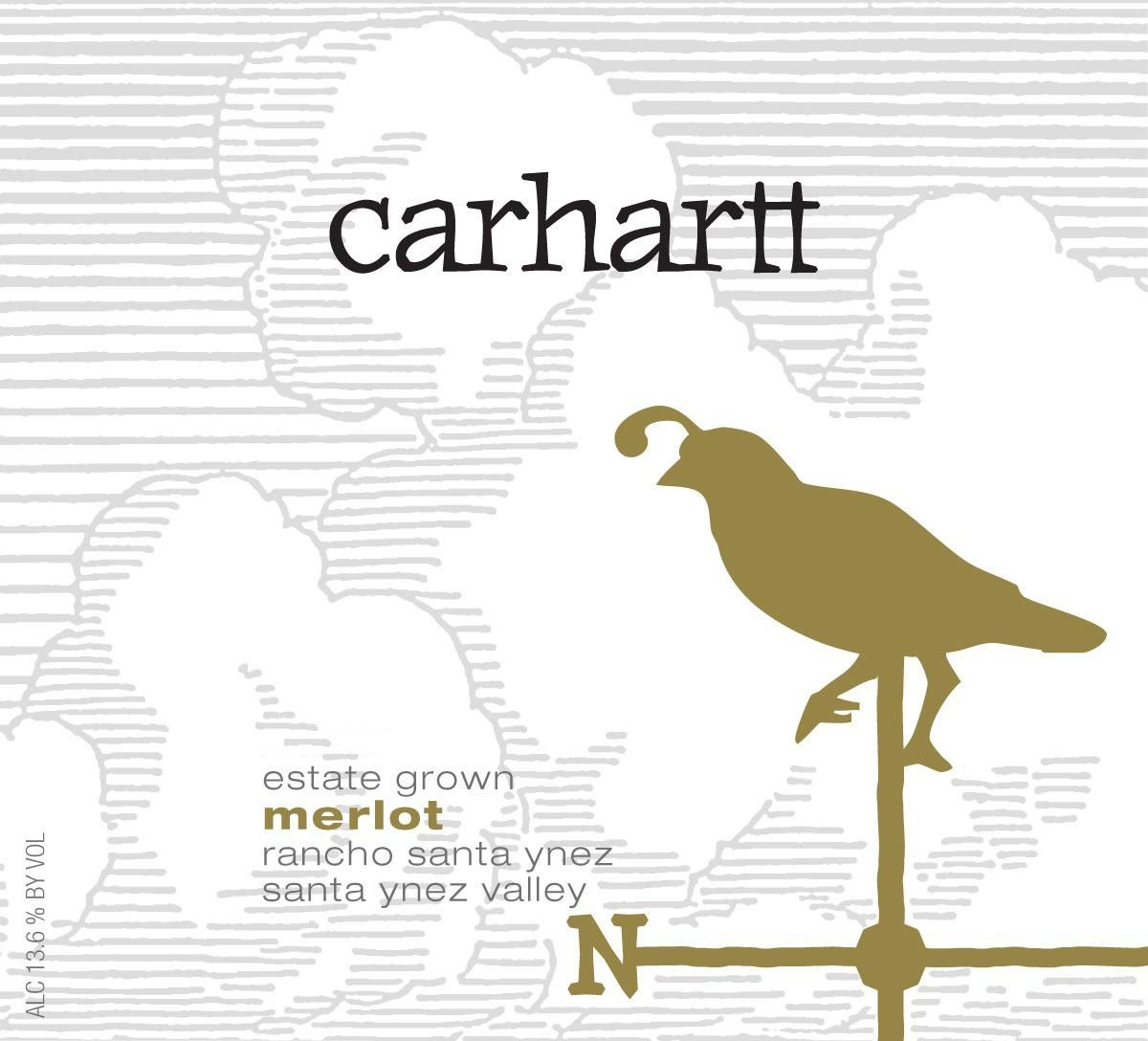 Carhartt Vineyard Estate Merlot 2013 Front Label