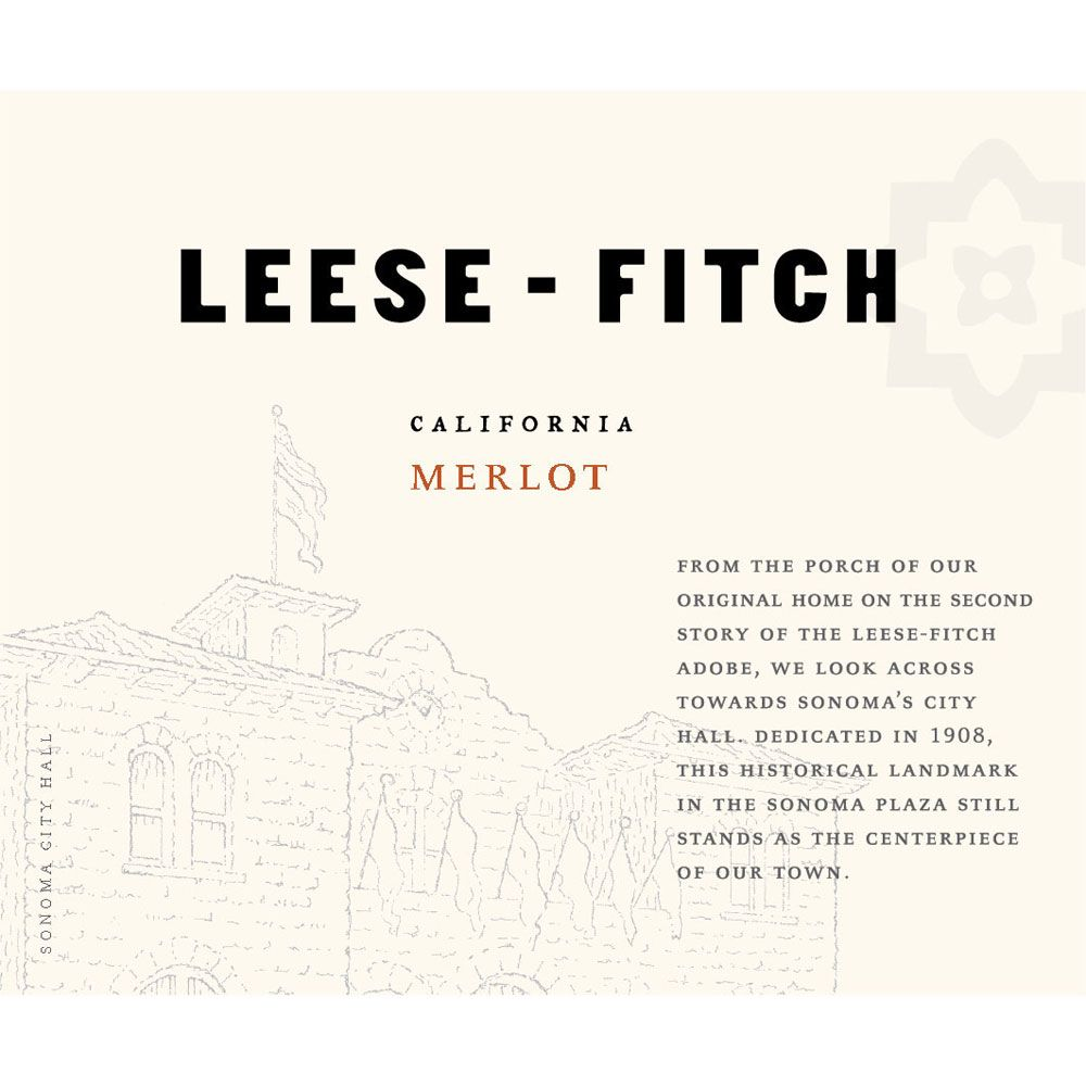 Leese-Fitch Merlot 2015 Front Label