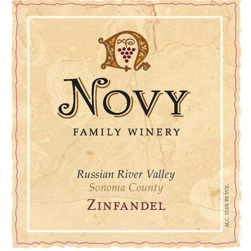 Novy Russian River Zinfandel 2016 Front Label