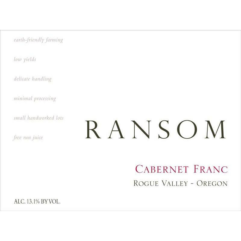 Ransom Rogue Valley Cabernet Franc 2014 Front Label