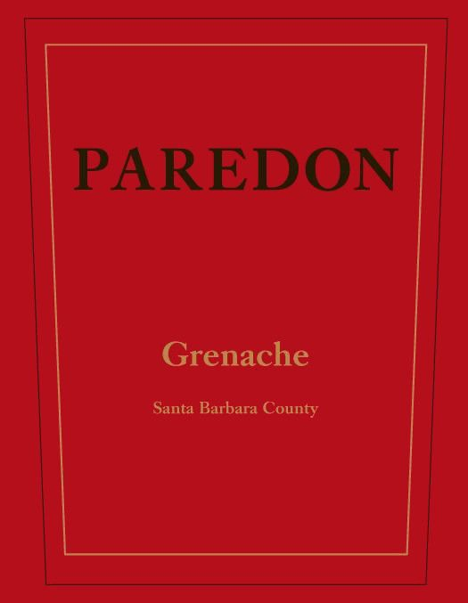 Carr Vineyards & Winery Winery Paredon Grenache 2011 Front Label